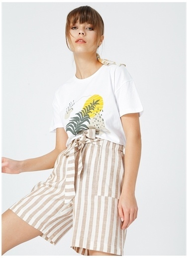 Fabrika Fabrika Kadın Beyaz T-Shirt Beyaz